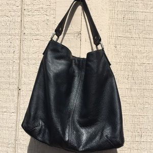 KOOBA  black tall leather tote